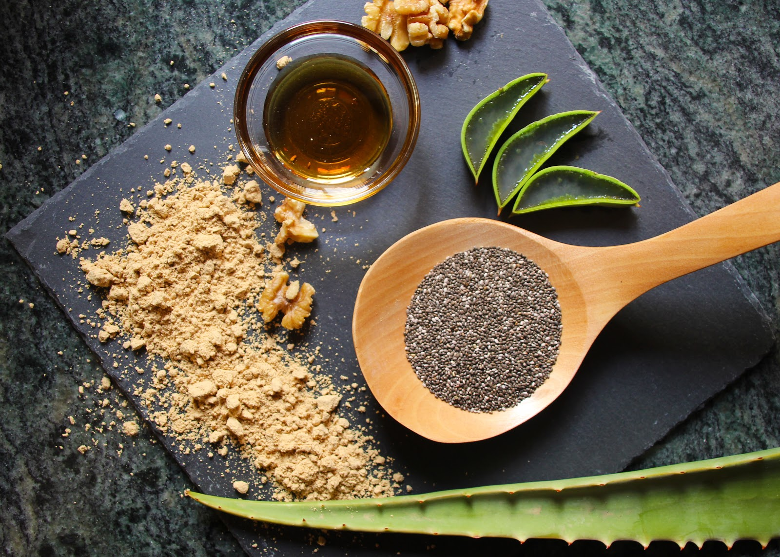 Superfoods: Moringa, Chia, Royal Jelly, Gofio and Aloe vera