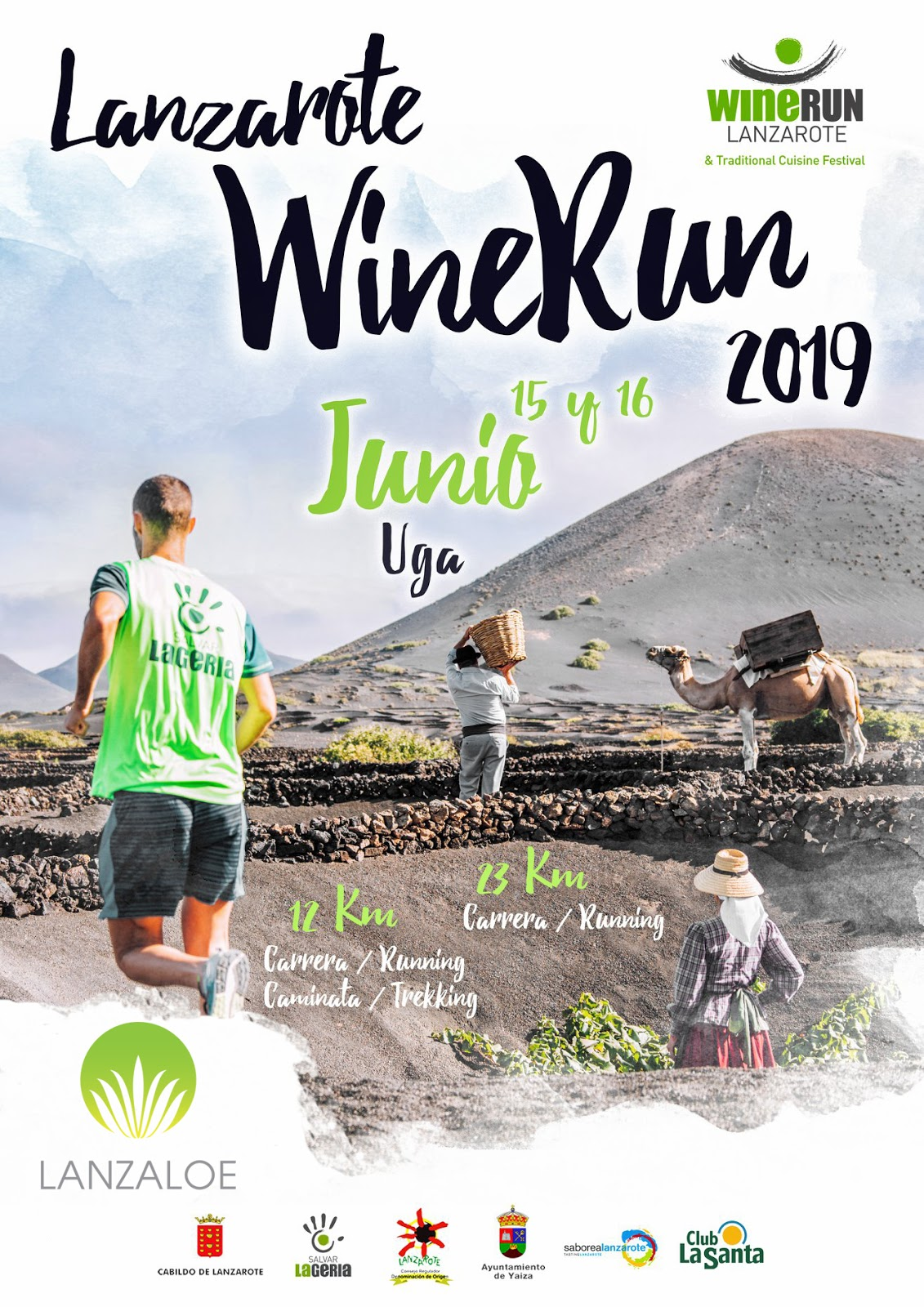 One more year, Lanzaloe is sponsor of the Wine Run Lanzarote 2019!